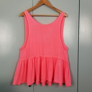 We the free hot pink top size M -C3